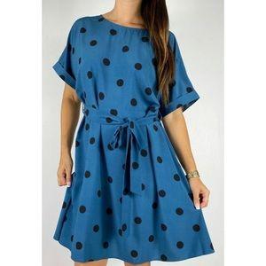 SHEIN Blue Polka Dot Dress Plus Size 2XL AU 18-20